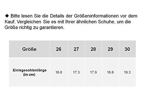 COIN kinder Mädchen Jungen Schneestiefel mit Klettverschluss, Warm gefütterte Winterstiefel mit Elch-Design, 26-30, in 2 Farben(Grau, Gelb) Grau