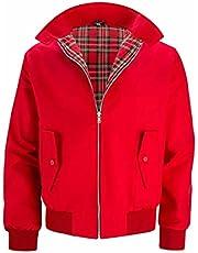 Heren rode jas buitenshuis trendy stijlvol