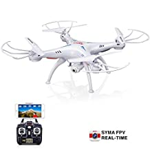 Original Syma X5SW RC 2.4G 6-Axis FPV Quadcopter Drone Helicopter Headless With Camera Wifi IOS&Android Sync Real Time Video-White