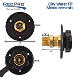 RV City Water Fill Inlet | Black | Optional Hose
