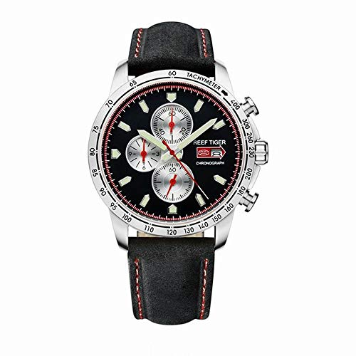 - LiBetyd RT Sport Watch for Men Chronograph Quartz Watch with Italian Calfskin Leather and Super Luminous Watch-RGA3029YBB