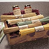 Five Pasta / Two Sauce Gift Box (All-Natural Fettuccini, Linguini, and Pasta Sauces)
