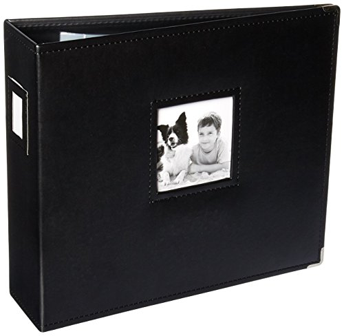 "K&Company 30-705968 15.5"" x 13"" Black D-Ring Binder Album"