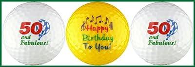 Fifty & Fabulous Birthday Golf Ball Gift Set
