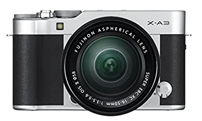 Fujifilm X-A3 Mirrorless Camera XC16-50mm F3.5-5.6 II Lens Kit-Silver