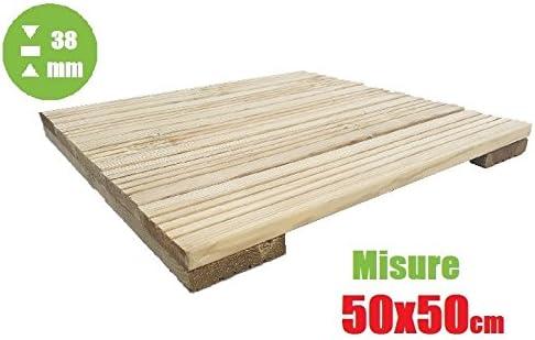 italfrom azulejo de exterior baldosa suelo jardín de madera de decking (50 x 50 x 3,8 cm): Amazon.es: Jardín
