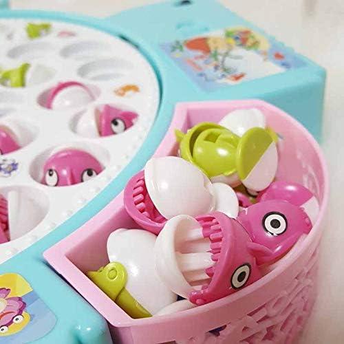 Angelspiel/Kinder mit 24 Fische und 5 Ruten Interaktives Eltern-Kind-Spielzeug f/ür Kinder Party Geschenk zum Geburtstag EPCHOO Angelspiel mit Musik