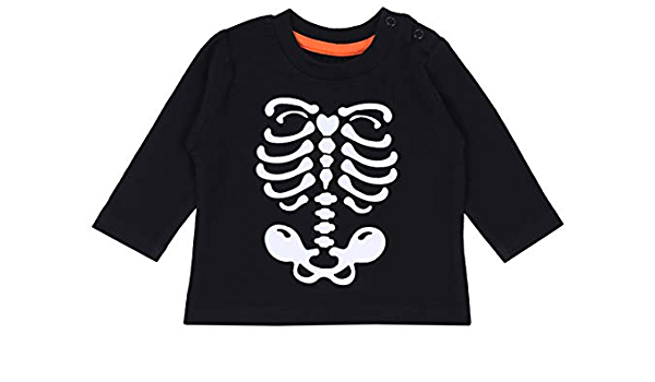 Blusa Negra con Esqueleto Blanco PRIMARK 18-24 Meses ...