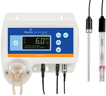 Bluelab pH Controller Connect with Clever Monitoring, Dosing and Data Logging of Solution pH Levels Excludes Connect Stick
