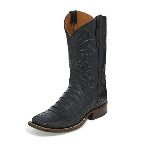 Tony Lama Mens Canyon Svart 13 Höjd (tl5252) | Fot Tobaks Teju Ödla | Pådrags Västra Stövlar | Svart Cowboy Läder Boot | Handgjorda I Usa