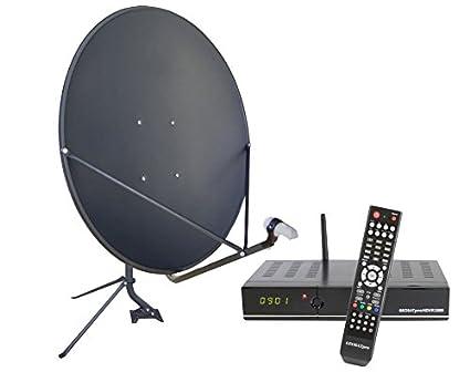 amazon com fta complete glorystar satellite one room hd dvr free