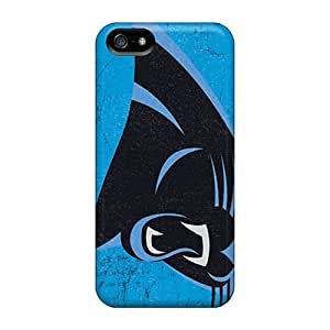 For Iphone 5/5s Tpu Phone Case Cover(carolina Panthers) by kobestar