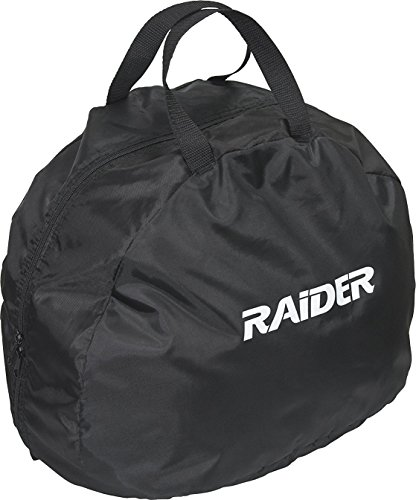 (Raider BCS-8B Durable Deluxe Nylon Motorcycle Helmet Bag, Black)