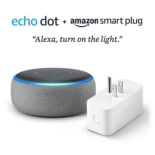 Echo Dot (3rd Gen) bundle with Amazon Smart Plug – Heather Gray