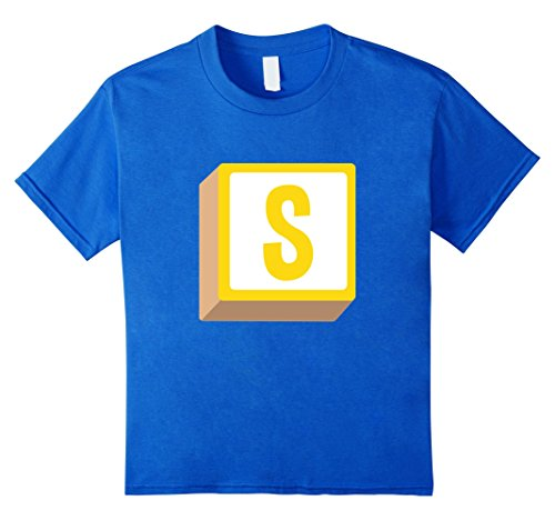 Kids S Alphabet Block Halloween Group Costume T-Shirt 8 Royal Blue - Alphabet Costumes Ideas