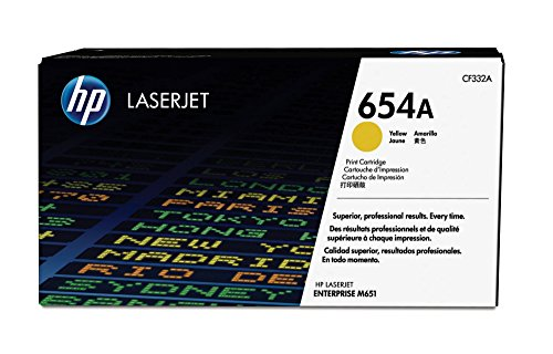 HP 654A (CF332A) Yellow Original Toner Cartridge by HP