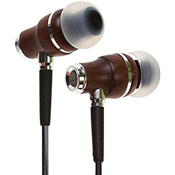 Symphonized NRG 3.0 Earbuds | Wood In-ear Noise-isolating Headphones with Mic & Volume Control (Black Night & Hazy Gray)