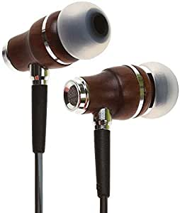 Symphonized NRG 3.0 Earbuds   Wood In-ear Noise-isolating Headphones with Mic & Volume Control (Black Night & Hazy Gray)