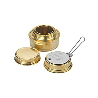 Esbit Brass Alcohol Burner Camping Stove with Variable
