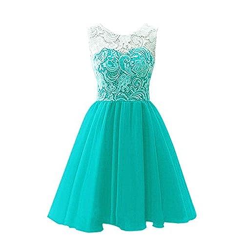 Short Teal Dresses