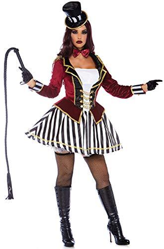Leg Avenue Women's 3 PC Ringmaster Costume, Multi, Medium