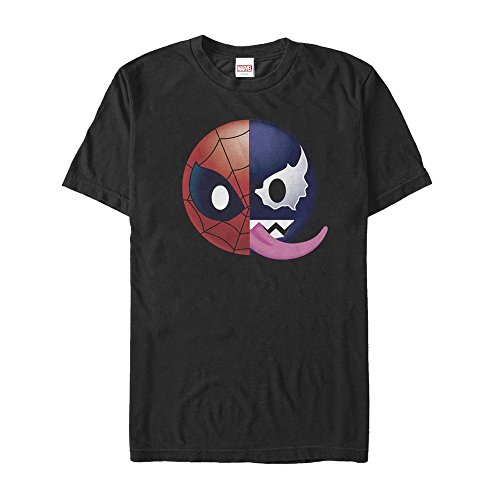 Marvel Venom Spider-Man Split Emoji Mens Graphic T Shirt