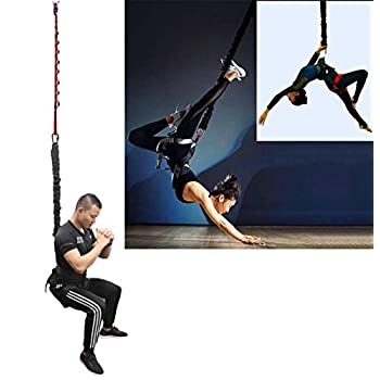 Image of DASKING Heavy Bungee Cord Resistance Belt for Home Gym Yoga Bungee Rope Gravity Bungee Training Tool Ideal for Home Gym Studio (Weight Class -3) Bungee Cords