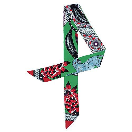 複数雇用者長いです【Nicircle スカーフ】スカーフ バッグ用 持ち手 小物 巻きつけ アクセサリー レディース おしゃれ 花柄 優雅 スカーフ カバン ハンドル リボンスカーフ バッグのハンドルの装飾【全7色】 Fashion Ladies Scarf