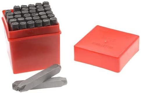 36-Piece Renewed TEKTON 6610 5//32-Inch Letter and Number Stamp Set