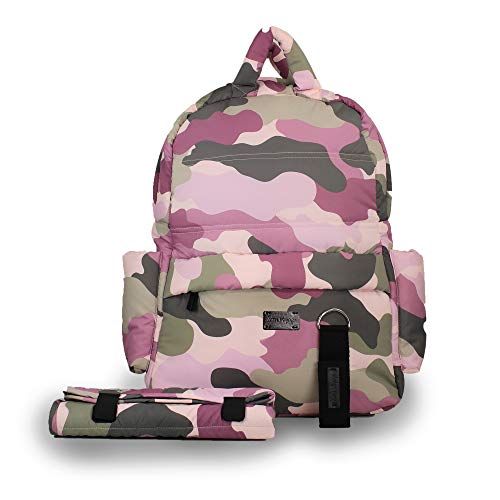 7 A.M. Voyage BK718 Diaper Bag Backpack, Camo Pink