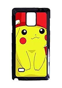 Engood Design Pikachu Red Hat Case Durable Unique Design Hard Back Case Cover For Samsung Galaxy Note 4 New