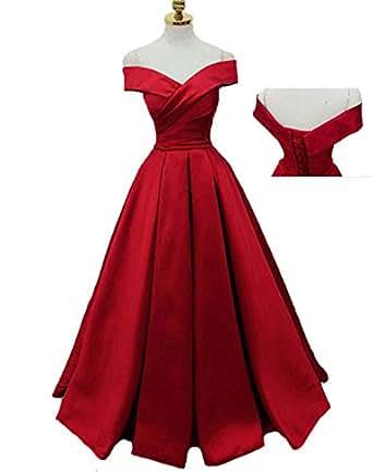 Mr Right Elegant Red Prom Dresses Long Pleat Satin Formal