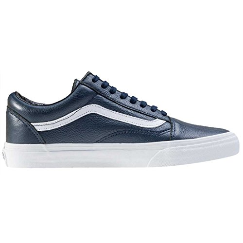 Vans Hombres Dress Azul/True Blanco Old Skool Cremallera Zapatillas Dress Azul/True Blanco