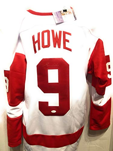 Gordie Howe Detroit Red Wings Signed Autograph Custom White Jersey JSA Authentic Certified