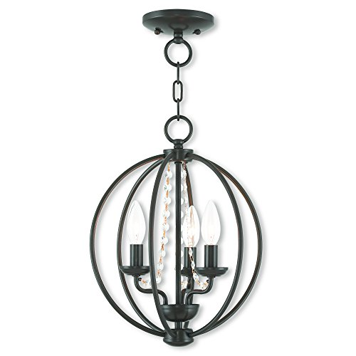 Livex Lighting 40913-92 Arabella 3 Light Ebz Mini Chandelier/Flush Mount, English Bronze Review