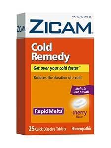 Amazon Com Zicam Cold Remedy Cherry Rapidmelts 25 Quick