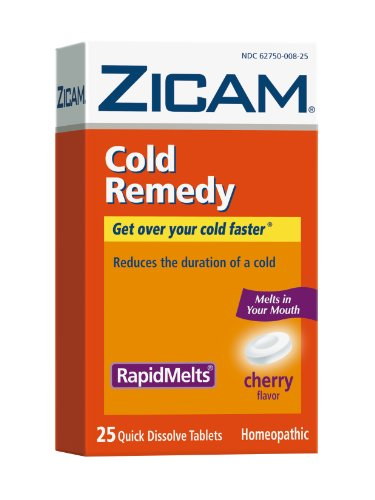 Zicam Cold Remedy Cherry RapidMelts, 25 Quick Dissolve Tablets (Pack of 2)