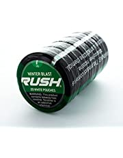 Rush Winter Blast Tobacco Free Nicotine Pouches (7mg Strength & 5 Can Sleeve)