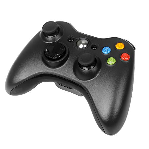 Wireless Controller for Xbox 360, YCCTEAM 2.4GHZ Wireless Gamepad Joystick Controller with Dual Vibration for Xbox 360/Xbox 360 Slim Console & PC Windows 7,8,10 (Black) (306)