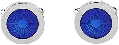 Qinlee 1 Paire Boutons de Manchette Yeux Rond en Cristal Chemise de Manchette pour Homme Femme 1.8*1.8cm-Type 6