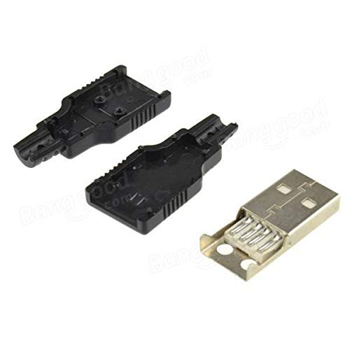 30pcs USB2.0 Type-A Plug 4-pin Male Adapter Connector
