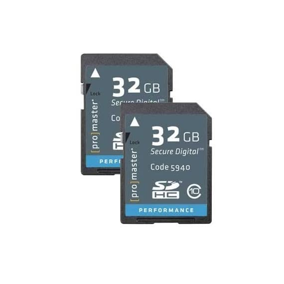 ProMaster 32GB SDHC 2-Pack Class 10 Performance Memory Card (3414) 1 Promaster 32GB SDHC Class 10 Memory Card (Performance) 2 Pack
