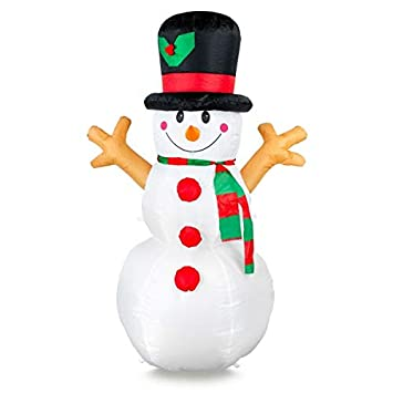 Amazon.com: Snowman hinchable de 5 pies de Navidad inflable ...