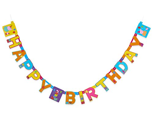 American Greetings Peppa Pig Birthday Party Banner, 1-Count, -