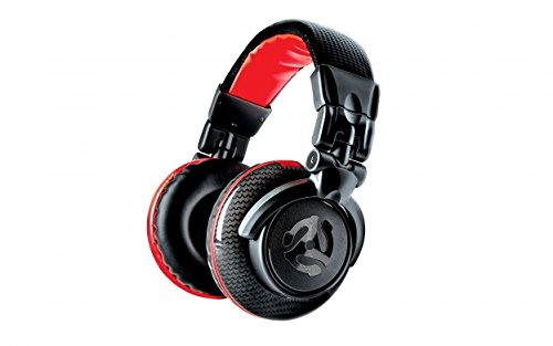 Numark Red Wave Carbon | Lightweight Full-Range DJ Headphones With Swivel Design, 50mm Drivers, Detachable Headphone Cable, 1/8-inch Adapter and Case included