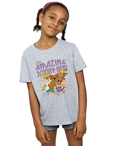 Scooby Doo Girls The Amazing Scooby T-Shirt Sport Grey 7-8 Years -