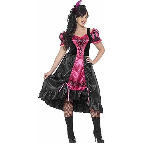 Smiffy's Women's Plus Size Wild West Saloon Girl Costume