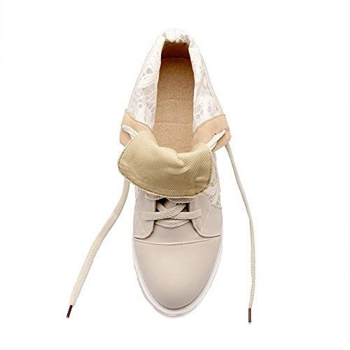 A Girls Boots Platform amp;N Legging Mesh Heighten Lace Beige Inside S4rR5qxSw