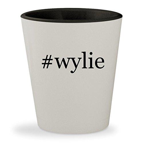 #wylie - Hashtag White Outer & Black Inner Ceramic 1.5oz Shot - Sunglasses Wylie