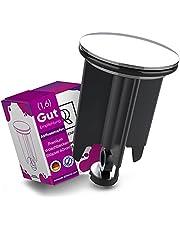 M. ROSENFELD Universele wastafelstop 40 mm chroom afvoerstop - van messing, universeel met rubber voor wastafels in de badkamer en bidets - excenterstop - in hoogte verstelbaar, roestvrij & dicht